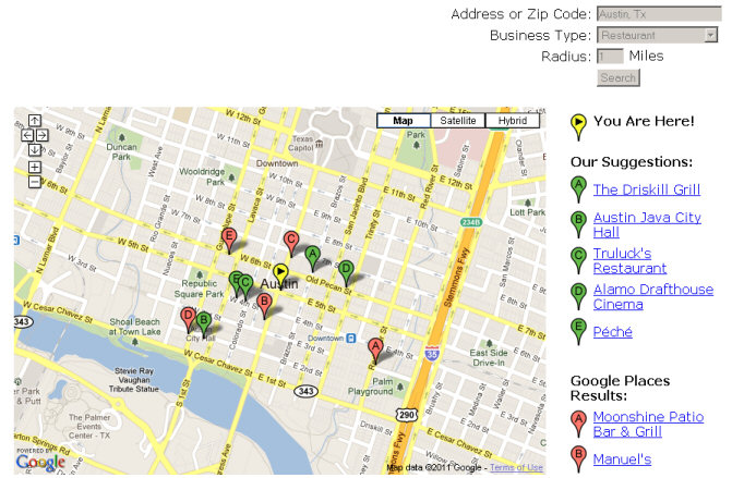 Google Maps API Places
